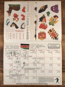 """他の写真1: Ronald McDonald Sticker Fun """"1982"""" Coloring Calendar マクドナルド ビンテージ カラーリングブック ロナルド 80年代"""