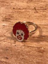 "McDonaldland Jewelry ""Ronald"" Enamel Ring ロナルド ビンテージ リング マクドナルド 指輪 70年代"