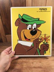 他の写真3: Playskool Yogi Bear Wood Puzzle ヨギベア ビンテージ ウッドパズル 80年代