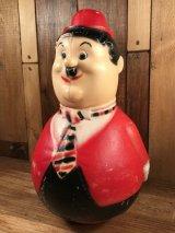 "Laurel & Hardy ""Oliver Hardy"" Roly Poly Toy ローレル&ハーディ ビンテージ 起き上がりこぶし 60年代"