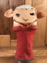 """Tarcher Productions """"Lamb Chop"""" Hand Puppet ラムチョップ ビンテージ ハンドパペット 60年代"""