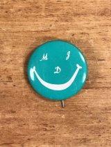 "Smile Face ""MDJ"" Pinback スマイル ビンテージ 缶バッジ 缶バッチ 70年代"