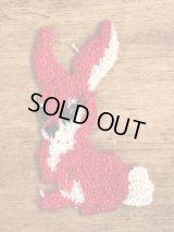 Bunny Embroidery Patch ウサギ ビンテージ 刺繡ワッペン パッチ 70年代
