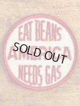 Eat Beans America Needs Gas Patch メッセージ ビンテージ ワッペン パッチ 70年代