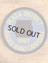 Plaza District Rugged Road Camporee BSA Patch ボーイスカウト ビンテージ ワッペン パッチ 60年代