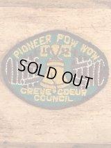 Pioneer Pow Wow Creve Coeur Council BSA Patch ボーイスカウト ビンテージ ワッペン パッチ 50年代