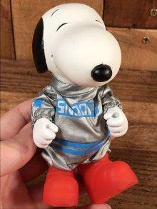"""他の写真1: Knickerbocker Snoopy Peanuts """"The Astronaut"""" Vinyl Doll スヌーピー ビンテージ アクションドール アストロノーツ 70年代"""