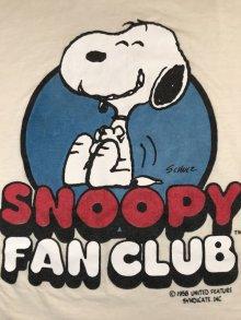 他の写真3: Peanuts Snoopy Fan Club T-Shirt スヌーピーファンクラブ ビンテージ Tシャツ USA 80年代