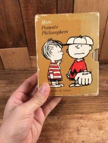 """他の写真3: Hallmark Peanuts Snoopy """"More Peanuts Philosophers"""" Mini Picture Book Set スヌーピー ビンテージ 絵本セット ピーナッツギャング 70年代"""