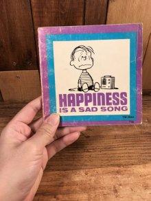 """他の写真3: Peanuts Snoopy """"Happiness Is A Sad Song"""" Picture Book スヌーピー ビンテージ 絵本 ピクチャーブック 70年代"""