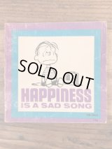 """Peanuts Snoopy """"Happiness Is A Sad Song"""" Picture Book スヌーピー ビンテージ 絵本 ピクチャーブック 70年代"""