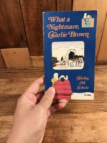 "他の写真3: Peanuts Snoopy ""What a Nightmare, Charlie Brown"" Picture Book スヌーピー ビンテージ 絵本 70年代"