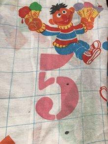 """他の写真1: Sesame Street """"Number"""" Box Sheet セサミストリート ビンテージ ボックスシーツ 70〜80年代"""