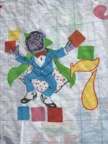 """他の写真3: Sesame Street """"Number"""" Box Sheet セサミストリート ビンテージ ボックスシーツ 70〜80年代"""