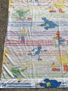 """他の写真1: Sesame Street """"Color"""" Twin Flat Sheet セサミストリート ビンテージ フラットシーツ 80年代"""