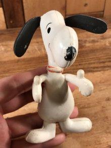 他の写真2: Peanuts Snoopy Bendable Rubber Figure スヌーピー ビンテージ ベンダブルフィギュア くねくね人形 70年代
