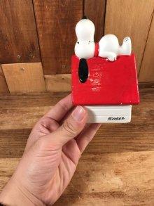 """他の写真3: Peanuts Snoopy """"Sleep On The Kennel"""" Ceramic Container スヌーピー ビンテージ セラミック容器 置物 70年代"""