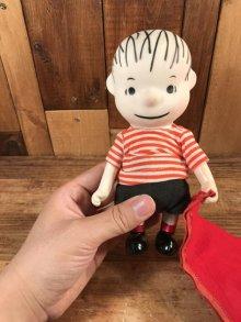 """他の写真3: Peanuts Snoopy """"Linus"""" Pocket Doll Figure ライナス ビンテージ ポケットドール スヌーピー 60年代"""