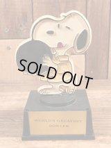 "Aviva Peanuts Snoopy ""World's Greatest Bowler"" Trophy スヌーピー ビンテージ トロフィー 70年代"