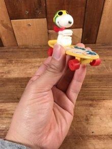 """他の写真2: Aviva Peanuts Snoopy """"Flying Ace"""" Skateboard Toy スヌーピー ビンテージ スケートボード フライングエース 80年代"""