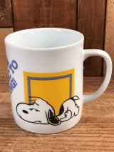 "Peanuts Snoopy ""I Think I'm..."" Ceramic Mug スヌーピー ビンテージ マグカップ 陶器 70年代"