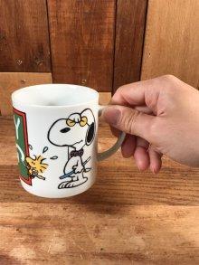 """他の写真3: Peanuts Snoopy """"Study"""" Ceramic Mug スヌーピー ビンテージ マグカップ 陶器 70年代"""