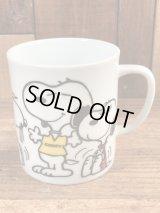 "Peanuts Snoopy ""Beagles Are..."" Ceramic Mug スヌーピー ビンテージ マグカップ 陶器 70年代"