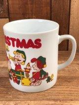 "Peanuts Snoopy ""Merry Christmas"" Ceramic Mug スヌーピー ビンテージ マグカップ 陶器 70年代"