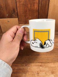 """他の写真2: Peanuts Snoopy """"I Think I'm..."""" Ceramic Mug スヌーピー ビンテージ マグカップ 陶器 70年代"""