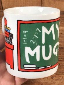 """他の写真2: Peanuts Snoopy """"Study"""" Ceramic Mug スヌーピー ビンテージ マグカップ 陶器 70年代"""