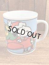 "Peanuts Snoopy ""Christmas"" Ceramic Mug スヌーピー ビンテージ マグカップ 陶器 70年代"
