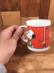"""他の写真3: Peanuts Snoopy """"Jogging Hound"""" Ceramic Mug スヌーピー ビンテージ マグカップ 陶器 70年代"""