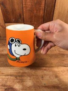"""他の写真3: Peanuts Snoopy """"Flying Ace"""" Ceramic Mug Music Box スヌーピー ビンテージ マグカップ オルゴール 70年代"""