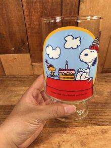 """他の写真3: Peanuts Snoopy """"Happy Birthday!"""" Big Glass スヌーピー ビンテージ ビッググラス 70年代"""