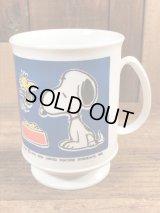 Peanuts Snoopy & Woodstock Plastic Mug スヌーピー ビンテージ プラスチックカップ 70〜80年代