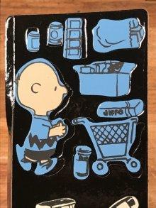 """他の写真1: Colorforms Peanuts """"What's on sale, Snoopy?"""" Colorforms Set スヌーピー ビンテージ カラーフォームズ おままごと 70年代"""