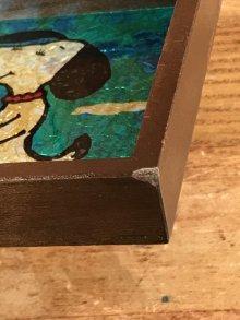 他の写真1: Counterpoint Peanuts Snoopy Aluminium Art Wood Wall Hanging スヌーピー ビンテージ 壁掛け 70年代