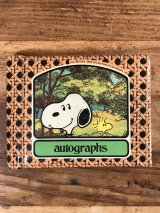 Peanuts Snoopy Autographs Memo Book スヌーピー ビンテージ メモ帳 70〜80年代