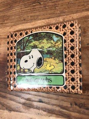 70〜80'sのスヌーピーのハードカバーのヴィンテージのメモ帳