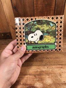 他の写真3: Peanuts Snoopy Autographs Memo Book スヌーピー ビンテージ メモ帳 70〜80年代