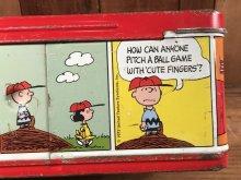 他の写真1: Thermos Peanuts Snoopy Metal Lunch Box スヌーピー ビンテージ ランチボックス サーモス 70年代