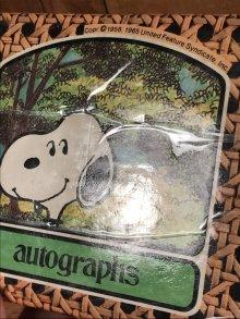 他の写真2: Peanuts Snoopy Autographs Memo Book スヌーピー ビンテージ メモ帳 70〜80年代