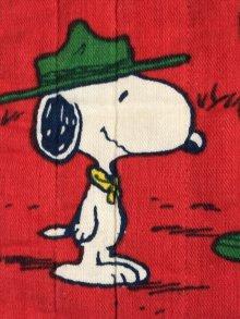 """他の写真2: Peanuts Snoopy & Woodstock """"Beagle Scout"""" Cushion Case スヌーピー ビンテージ クッションカバー ビーグルスカウト 70〜80年代"""