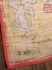 """他の写真2: Peanuts Snoopy """"I Feel Like..."""" Cloth Tapestry スヌーピー ビンテージ タペストリー チャーリーブラウン 70〜80年代"""
