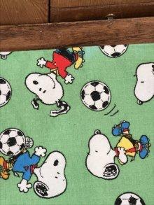 """他の写真2: Peanuts Snoopy """"Football"""" Pillow Case スヌーピー ビンテージ ピローケース 枕カバー 90年代〜"""