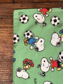 """他の写真1: Peanuts Snoopy """"Football"""" Pillow Case スヌーピー ビンテージ ピローケース 枕カバー 90年代〜"""