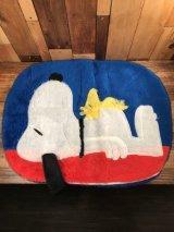 Peanuts Snoopy & Woodstock Cushion Case Rug スヌーピー ビンテージ クッションケース ウッドストック 70年代〜