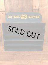 """Electronic """"GE"""" Hardware Metal Display Rack  ゼネラルエレクトリック ビンテージ ディスプレイラック 店頭用 60年代〜"""