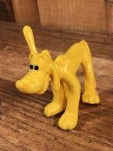 """Disney """"Pluto"""" PVC Figure プルート ビンテージ PVCフィギュア 70年代"""