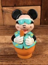 "Disney Mickey Mouse ""Popsicle"" Finger Puppet Figure ミッキーマウス ビンテージ 指人形 PVCフィギュア 80年代"